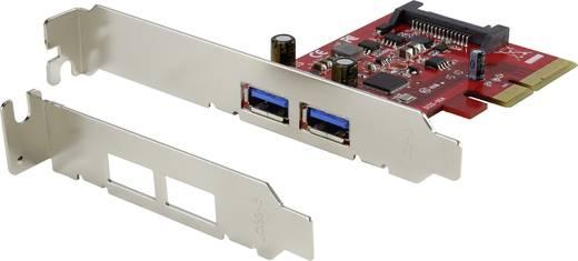 PCI-Express kontroller kártya, 2 portos USB 3.1, Renkforce