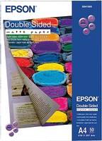 Fénykép papír Epson Double-Sided Matte Paper C13S041569 DIN A4 178 g/m² 50 lap Mindkét oldala nyomtatható, Matt (C13S041569) Epson