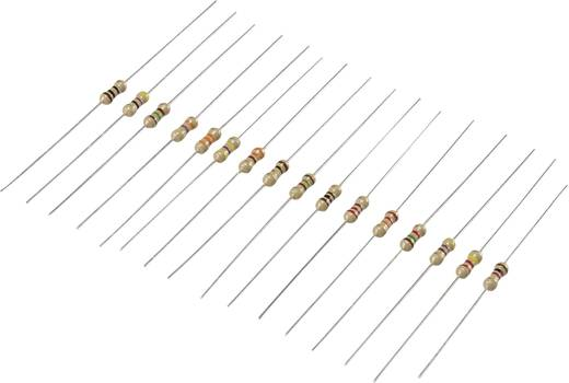 Szénréteg ellenállás készlet, axiális kivezetés, 0,25 W, 480 db, Tru Components 98001c367