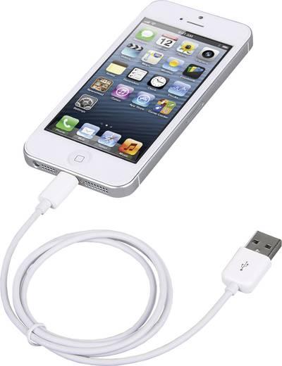 iPod/iPhone/iPad Adatkábel/Töltőkábel [1x USB 2.0 dugó, A típus - 1x Apple Dock dugó Lightning] 1 m Fehér Manhattan