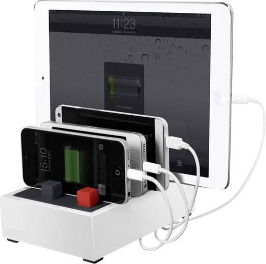 Hálózati USB töltőállomás, dokkoló max. 4500 mA Audiosonic PB-1726