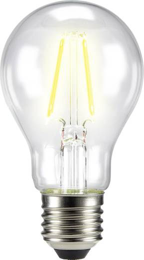 LED izzó, körte forma, 105 mm 230 V E27 6 W = 60 W melegfehér A++, sygonix