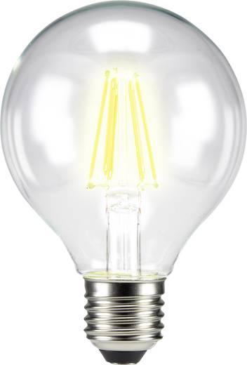 LED izzó, gömb forma, 115 mm 230 V E27 6 W = 60 W melegfehér A++, sygonix