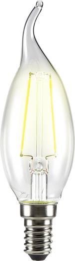 LED izzó, szélfútta gyertya forma, 120 mm 230 V E14 4 W = 37 W melegfehér A++, sygonix