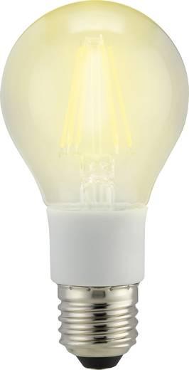 LED izzó, körte forma, dimmelhető, 114 mm 230 V E27 7 W = 60 W melegfehér A++, sygonix