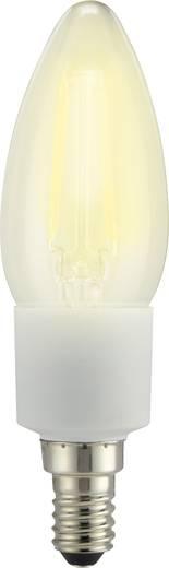 LED izzó, gyertya forma, 117 mm 230 V E14 4,5 W = 40 W melegfehér A++, sygonix