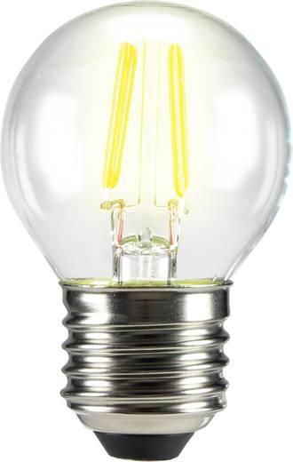 LED izzó, csepp forma, 72 mm 230 V E27 3 W = 28 W melegfehér A++, sygonix