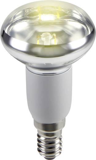 LED izzó, reflektoros, 85 mm 230 V E14 2 W = 21 W melegfehér A, sygonix