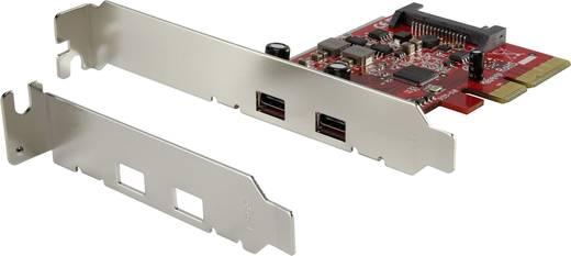 2 portos USB 3.1 kontroller kártya PCIe renkforce