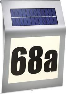 Napelemes házszám megvilágítás, melegfehér/nemesacél, Esotec 102030 Style Esotec