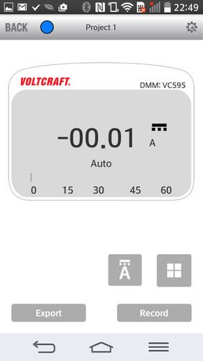 Bluetooth multiméter, True RMS mérőműszer és adatgyűjtő VOLTCRAFT BB-500