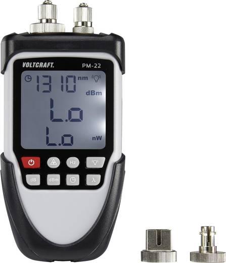 Optikai kábel teszter, kábelvizsgáló készülék Voltcraft PM-22