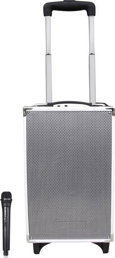 Hordozható hangfal, mobil aktív PA hangszóró, vezeték nélküli mikrofonnal, fehér színben Jay-Tech MCP-100