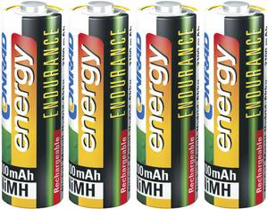 Ceruza akku AA, NiMH, 1,2V 2600 mAh, 4 db, LR06, AA, LR6, AAB4E, AM3, 815, E91, LR6N,  Conrad Energy Endurance  Conrad energy