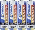 Ceruza akku AA, NiMH, 1,2V 2750 mAh, 4 db, LR06, AA, LR6, AAB4E, AM3, 815, E91, LR6N, Conrad Energy  Conrad energy