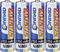 Ceruza akku AA, NiMH, 1,2V 2750 mAh, 4 db, Conrad Energy LR06, AA, LR6, AAB4E, AM3, 815, E91, LR6N (1377656) Conrad energy
