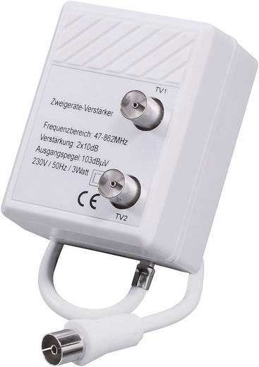 Koax antenna erősítő, 1 be-/2 kimenet, 20 dB, Renkforce TVS 8-08z