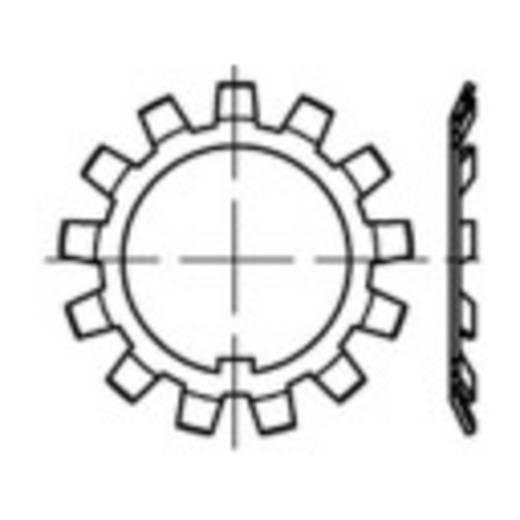 Biztonsági alátét, belső Ø: 17 mm DIN 5406 Acél 25 db TOOLCRAFT 137802