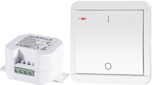 Vezeték nélküli beépíthető kapcsoló készlet, 2 részes, max. 2000 W, 150 m, fehér, renkforce RS2W