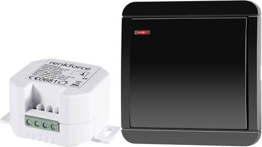 Vezeték nélküli beépíthető kapcsoló készlet, 2 részes, max. 2000 W, 150 m, fekete, renkforce RS2W