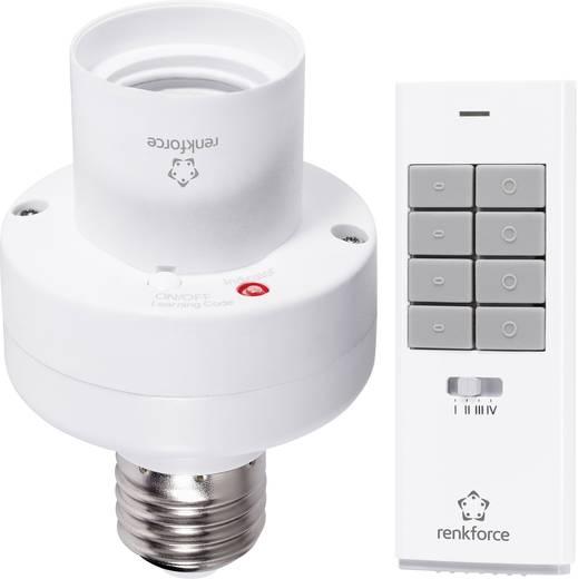 Vezeték nélküli izzó foglalat vezérlő készlet, 2 részes, max. 100 W, 150 m, fehér, renkforce RS2W