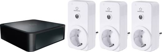 Gateway + vezeték nélküli konnektoros kapcsoló készlet, 4 részes, max. 3500 W, Mediola