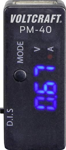 USB-s multiméter, áram és feszültségmérő panelműszer Voltcraft PM-40