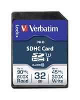 SDHC kártya 32 GB Verbatim PRO Class 10 UHS-I, Class 10 (47021) Verbatim