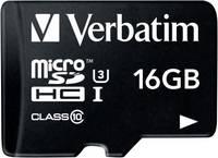 Verbatim PRO mikro SDHC kártya 16 GB Class 10, UHS-I, UHS-Class 3 SD adapterrel Verbatim