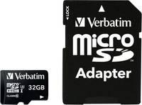 Verbatim PRO mikro SDHC kártya 32 GB Class 10, UHS-I, UHS-Class 3 SD adapterrel Verbatim