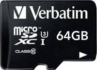 Mikro SDXC kártya 64 GB Verbatim PRO Class 10, UHS-I, UHS-Class 3 SD adapterrel Verbatim