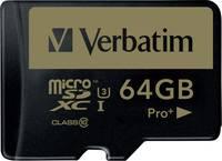 Verbatim PRO+ mikro SDXC kártya 64 GB Class 10, UHS-I Verbatim