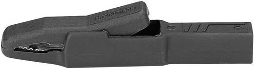 Szigetelt krokodilcsipesz, mérőcsipesz CAT II/300V-ig 4mm-es banándugó aljzattal, fekete SKS Hirschmann AK 2 B