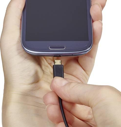 USB - Mikro USB átalakító kábel, megfordítható micro USB csatlakozóval 1m, fekete, Renkforce