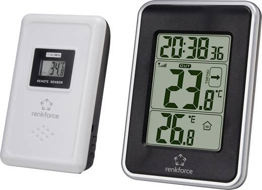 Vezeték nélküli hőmérő órával, renkforce E0109T