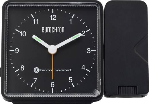 Rádiójel vezérelt analóg kivetítős ébresztőóra, 115 x 83 x 51 mm, fekete, Eurochron EFP 505