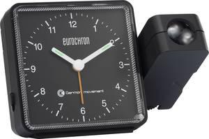 Rádiójel vezérelt analóg kivetítős ébresztőóra, 115 x 83 x 51 mm, fekete, Eurochron EFP 505 (EFP 505) Eurochron