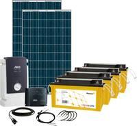 Phaesun Solar Rise Six 600283 Napelemes készlet 500 Wp Akkuval, Csatlakozókábellel, Töltésszabályozóval, Inverterrel Phaesun
