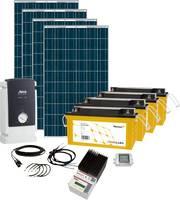 Napelemes készlet Solar Rise Seven Phaesun 600282 1000 Wp Akkuval, Csatlakozókábellel, Töltésszabályozóval, Inverterrel Phaesun