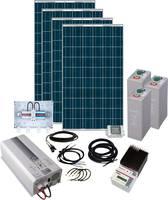 Napelemes készlet Solar Rise Eight Phaesun 600281 1000 Wp Akkuval, Csatlakozókábellel, Töltésszabályozóval, Inverterrel Phaesun