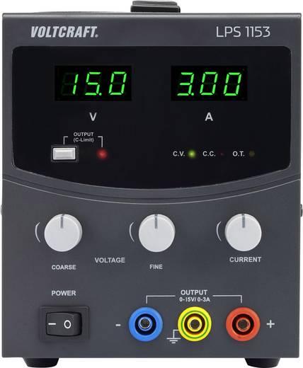 Szabályozható lineáris labortápegység 0 - 15 V/DC 0 - 3 A 45W VOLTCRAFT LPS1153