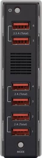 Hálózati USB töltőállomás, USB Hub dokkoló 6 USB aljzattal 100-240V/AC 5V/DC max. 2500 mA VOLTCRAFT SPAS-2400/6