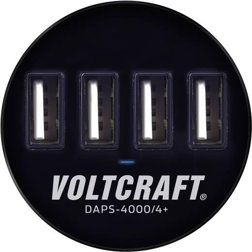 Asztalba építhető 4 részes USB töltő, max. 6000 mA, Voltcraft DAPS-4000/4