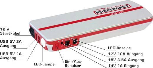 Indítássegítő 12 V-os Powerbankkal + LED munkalámpával, DINO