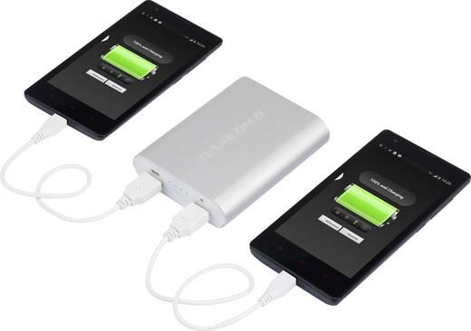 Powerbank, tartalék akku, mobil akku, Basetech BTP-3, 10400 mAh