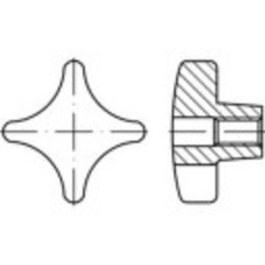 TOOLCRAFT Keresztfogantyúk DIN 6335 6 mm Szürke vasöntvény 10 db