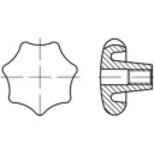 TOOLCRAFT Keresztfogantyúk DIN 6336 6 mm Szürke vasöntvény 10 db