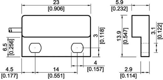 Reed kontaktus 1 záró 200 V/DC/AC 0,5 A 10 W StandexMeder Electronics MK04-1A66B-500W