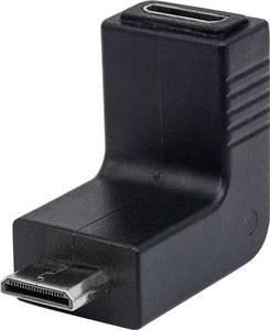 Manhattan HDMI Átalakító [1x HDMI dugó, C mini - 1x HDMI alj, C mini] Fekete Aranyozatt érintkező Manhattan