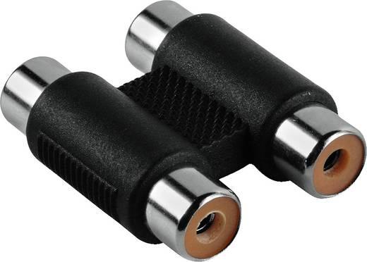 RCA audio átalakító, 2 x RCA alj - 2x RCA alj, fekete, Hama